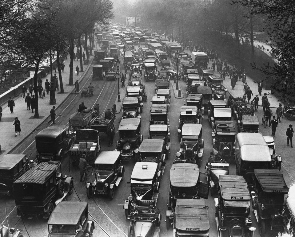 Traffic Jam During Strike