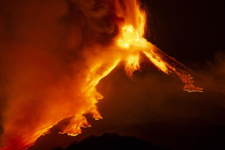 Eruption at Mount Etna