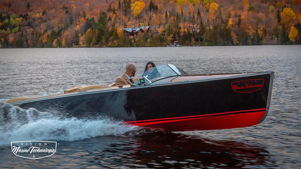bruce 22 electric powered boat vision marine technologies canada