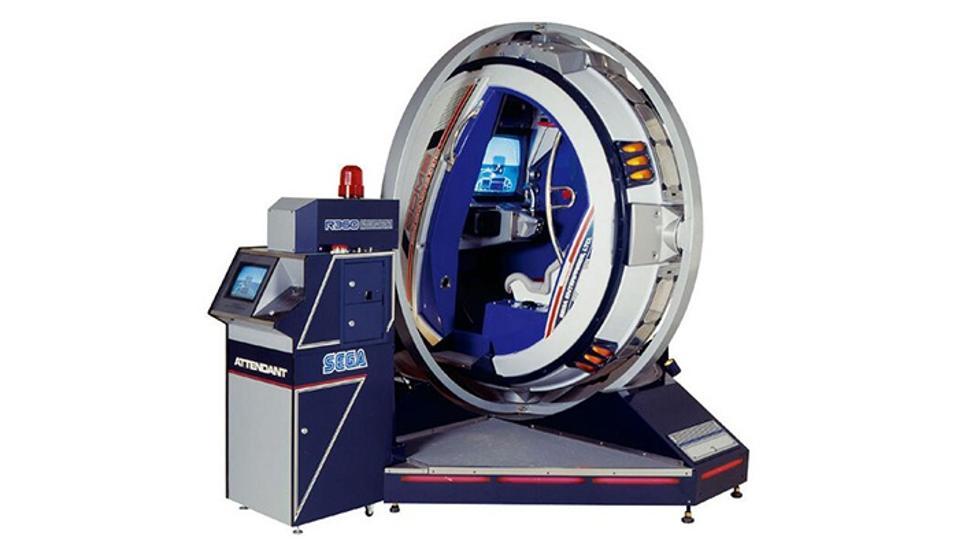 Sega R360 arcade cabinet from 1990