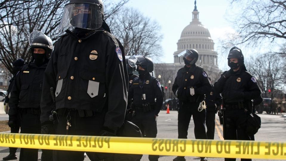 Washington, D.C., on day of inauguration of US President-elect Joe Biden