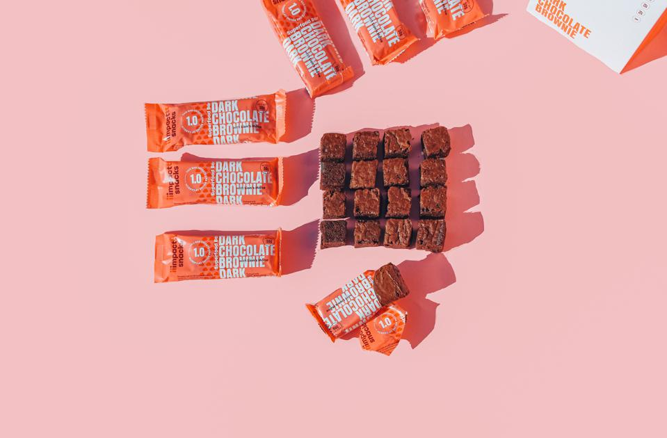 Impact Snacks' bars are plastic free and wrapped in a plant-based and compostable wrapper.