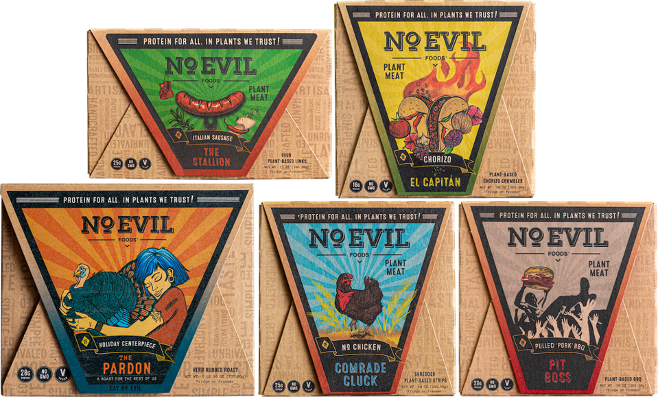 No Evil Foods became the world's first plastic-negative plant-based meat brand.