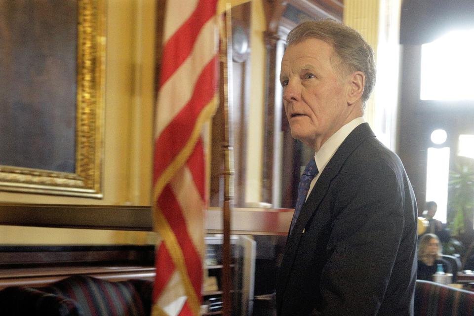 Former Illinois Speaker of the House Michael Madigan (D-Chicago) (AP Photo/Seth Perlman)