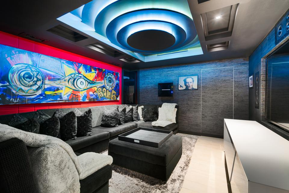 Luxury real estate theater screening room