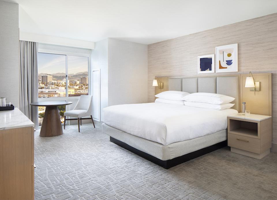 Santa Monica Hilton Hotel Room