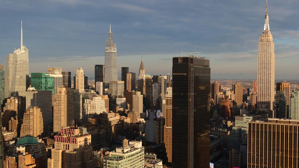 Sunset Views of Manhattan from The Eugene in New York City