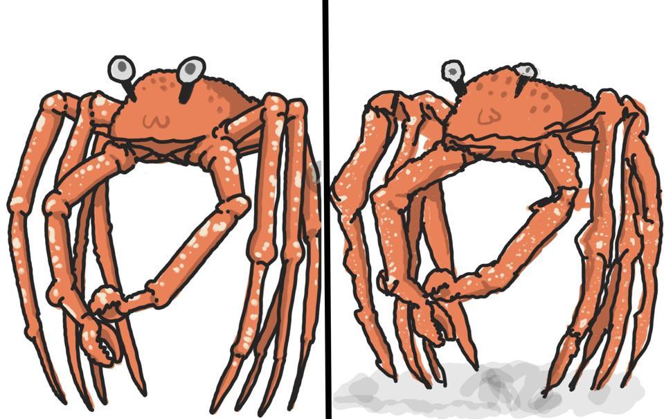 Mario Crab vs.  Cangrejo Wario.