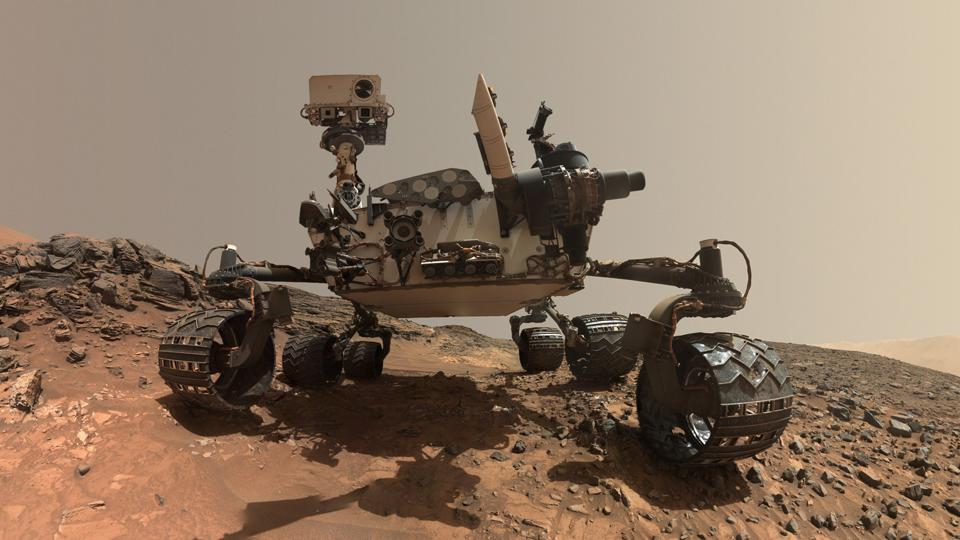 The Curiosity rover on Mars