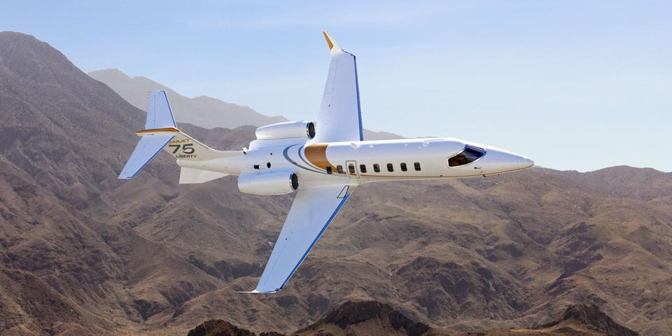 The Learjet 75 Liberty private jet