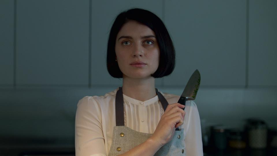 Eve Hewson Behind Her Eyes knife kitchen
