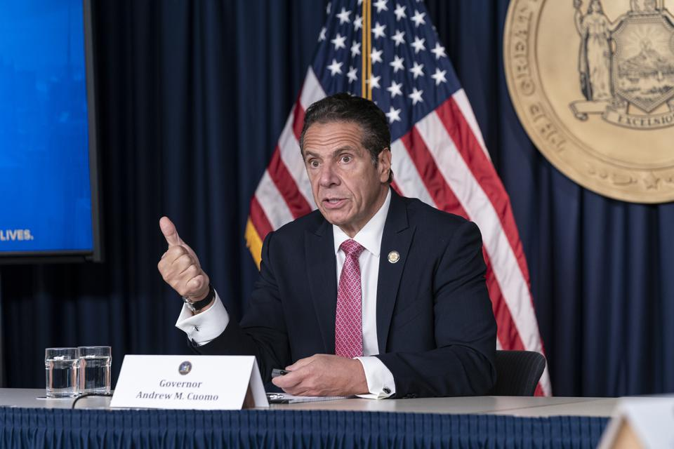 New York State Governor Andrew Cuomo holds daily media...