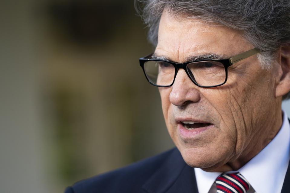 Energy Secretary Rick Perry Speaks At The White House