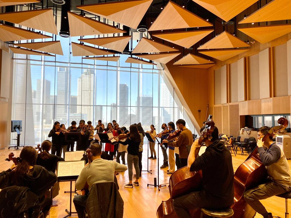 rehearsal at the Tianjin Juilliard School