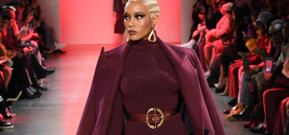 Sergio Hudson runway look from New York Fashion Week in February 2020.