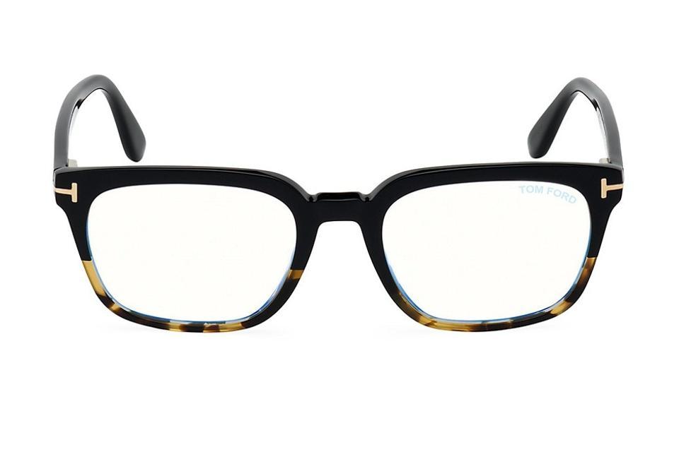Tom Ford 53MM Tortoiseshell Square Blue Block Optical Glasses