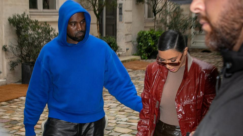 Kim Kardashian and Kanye West In Paris - March 2, 2020