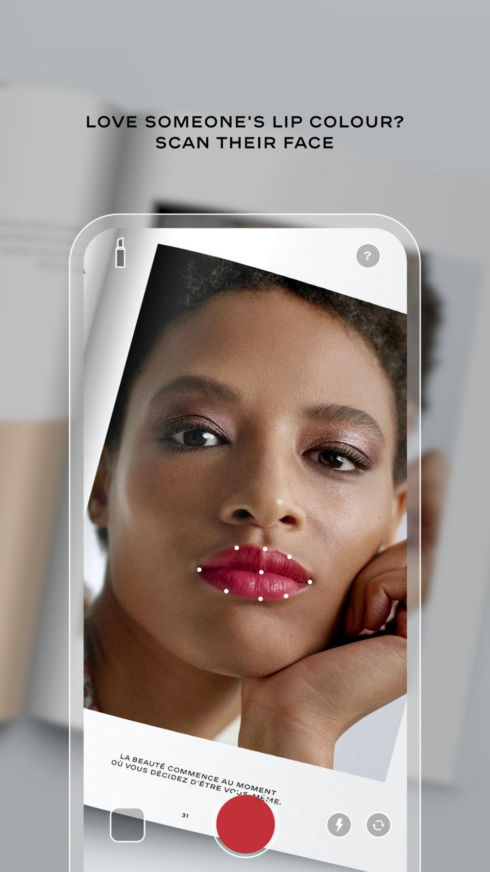 The Chanel Lipscanner app