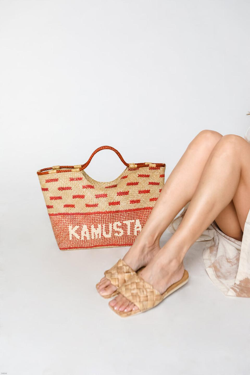 The Kamusta Tote and Raquel slip ons at MAISON METISSE