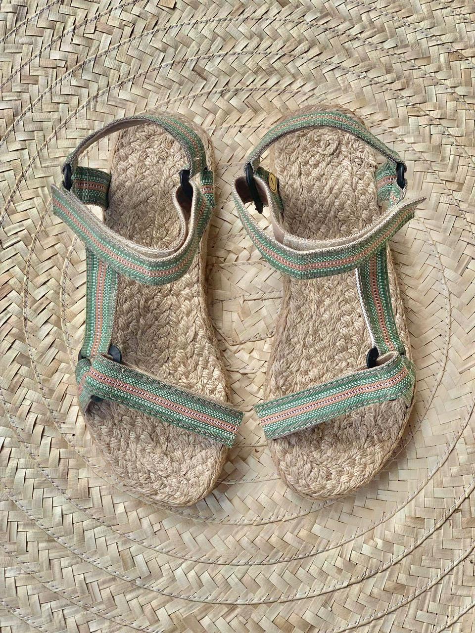 Nomad sandals made using Kalinga fabrics and abaca by CAMLU