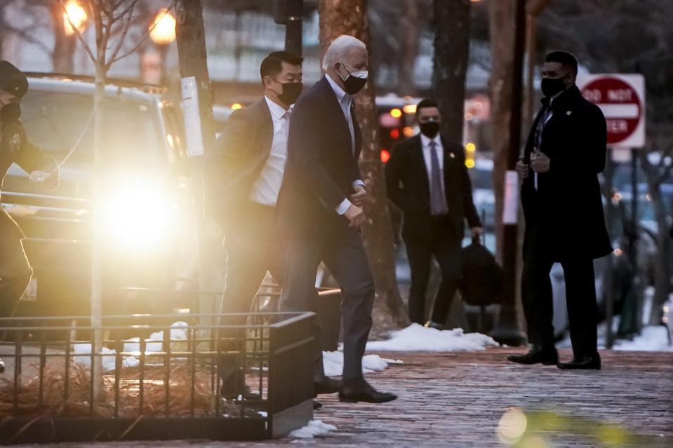 President Biden Attends Church In Washington DC