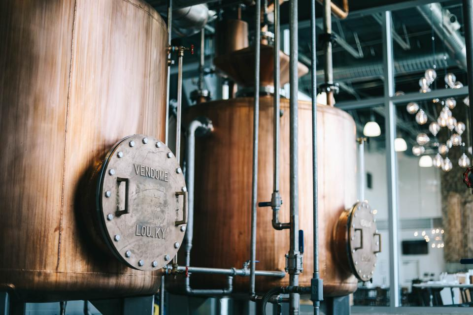 Locally made vendome copper stills drive what's considered the world's most technologically advanced whiskey distilleries.