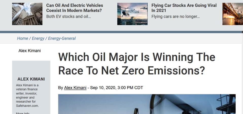 oil companies go net zero, oilprice,com