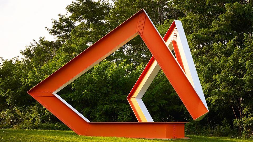 red steel sculpture