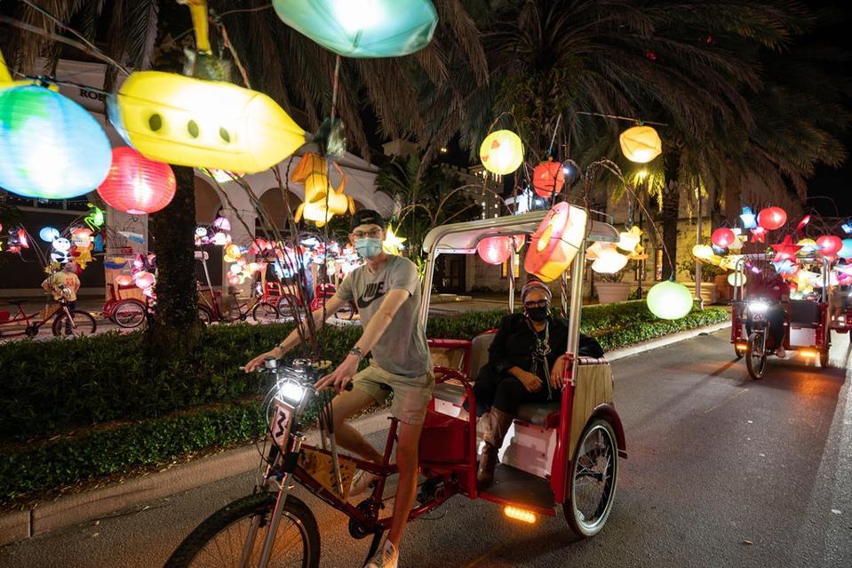 bikes with lanterns