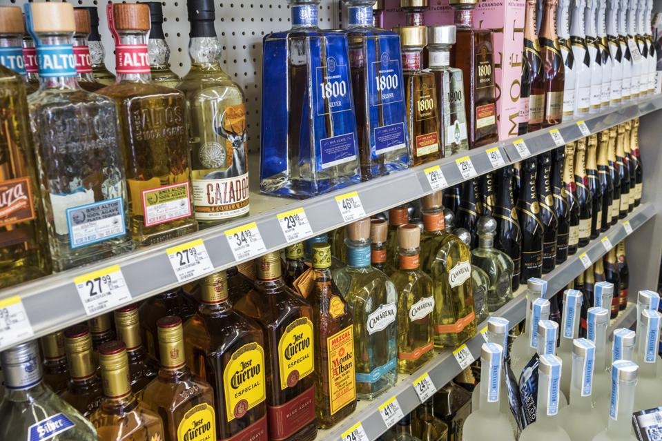 Florida, Miami Beach, Liquor Display