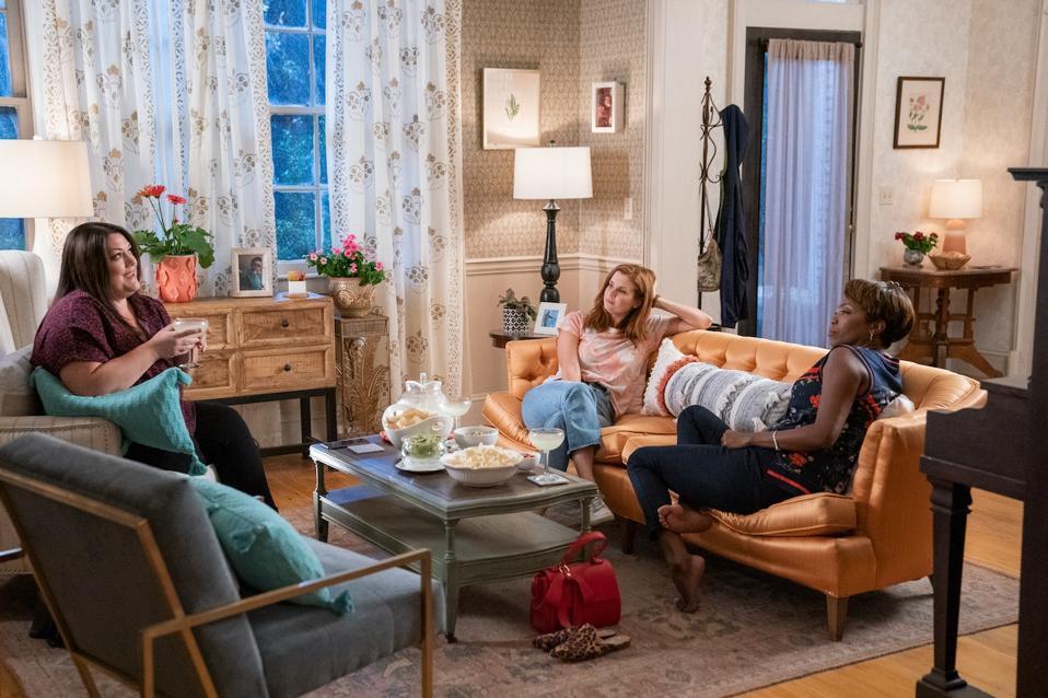 Brooke Elliott, Joanna Garcia Swisher and Heather Headley in 'Sweet Magnolias' on Netflix.