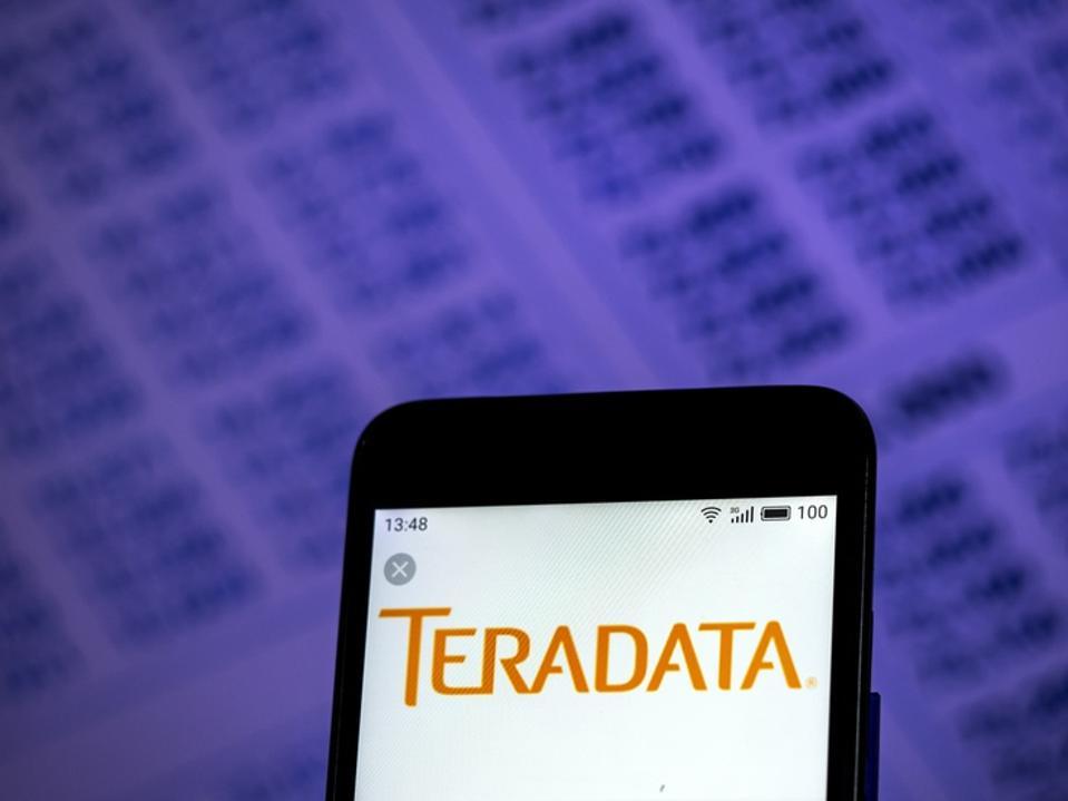 Teradata Corporation  logo seen displayed on smart phone
