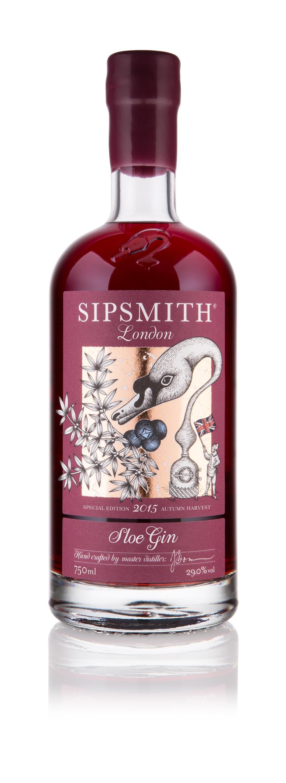 Bottle of Sipsmith Sloe Gin 2015