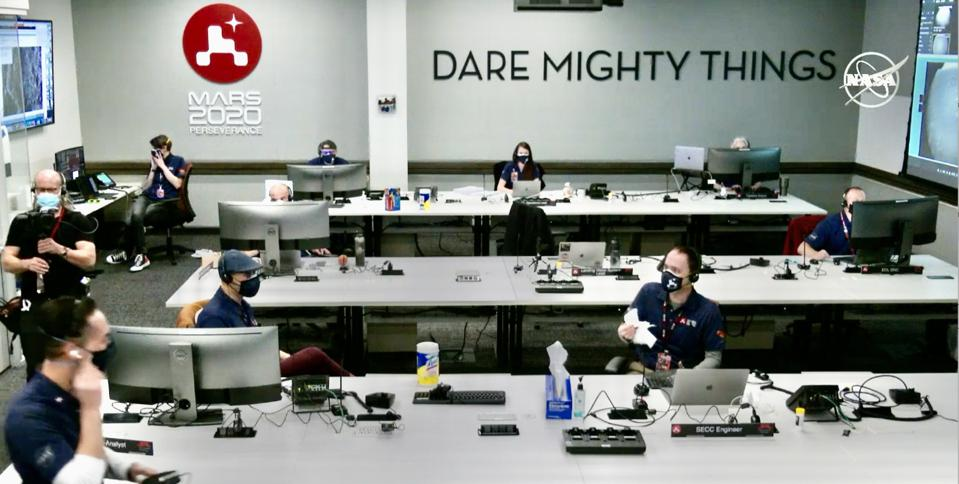 NASA headquarters, and their mission slogan:  Dare Mighty Things