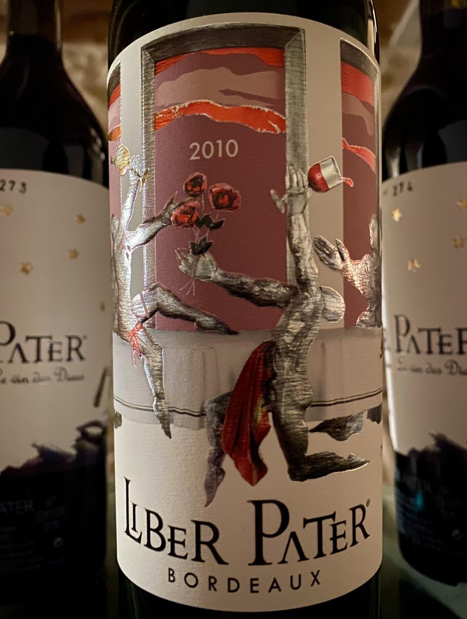 A bottle of Liber Pater 2010 wiine