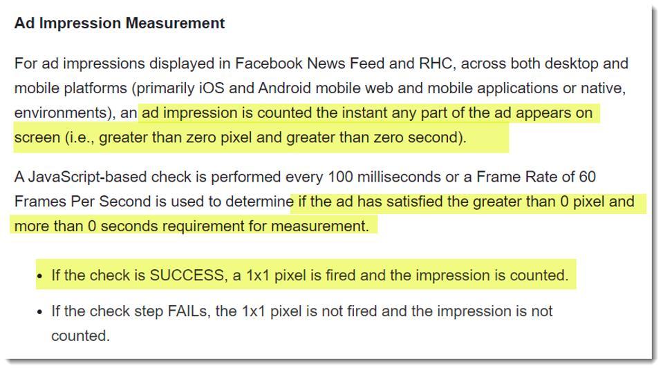 Facebook Ad Metrics methodology