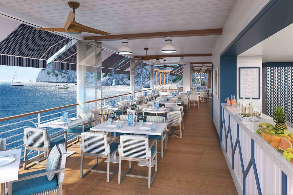 Rendering of the Beach Club of  Hotel La Palma in Capri