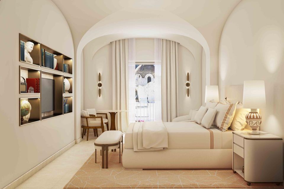 Rooms at Hotel La Palma in Capri