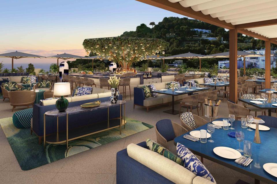 Rendering of The Bianca Rooftop at Hotel La Palma in Capri
