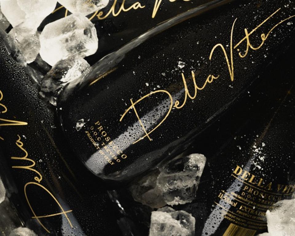 Bottles of Della Vite Prosecco DOC