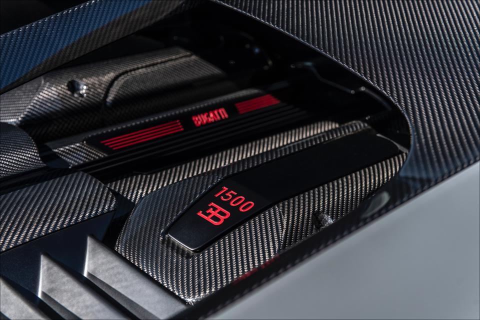 Engine unchanged from Chiron, Maximum torque of 1180 lb. ft. is available from 2000-6000.