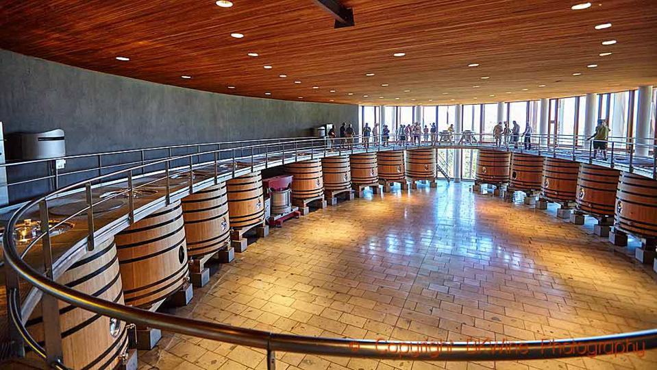 The vat room at Clos Apalta-Lapostolle, Colchagua, Chile