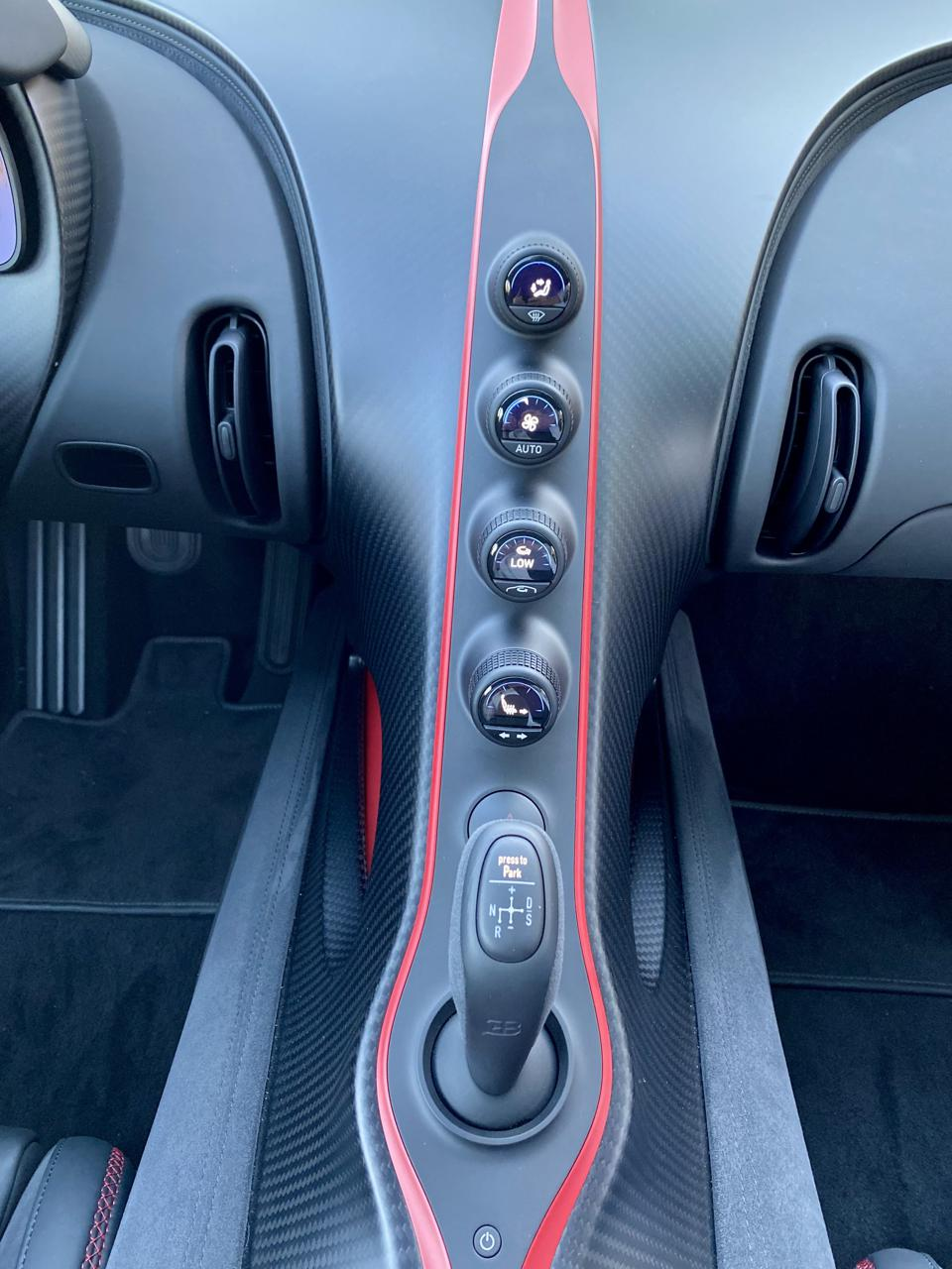 Pur Sport interior features exposed carbon-fiber. A more sporting esthetic.