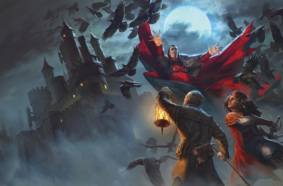 Von Richten and Esmerelda battle the vampire Strahd