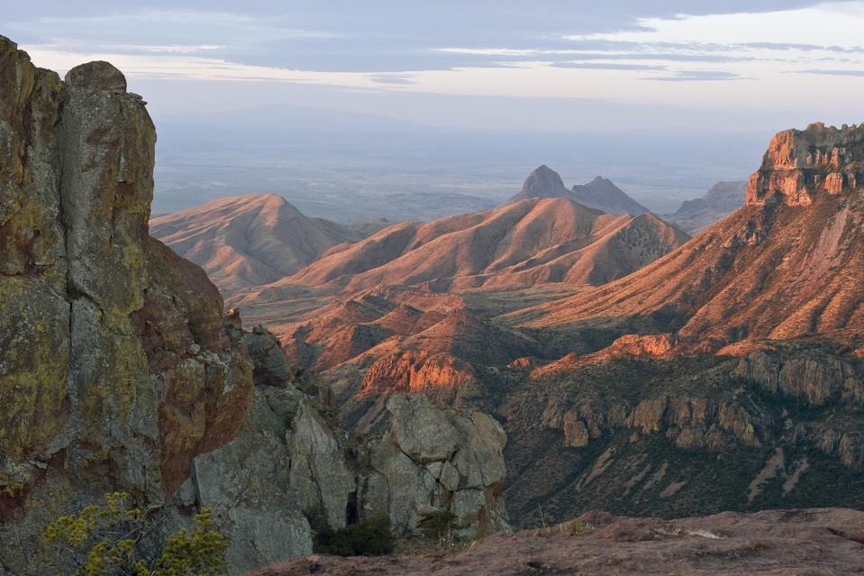 Northeast rim of Chisos Mountains at Big Bend National Park