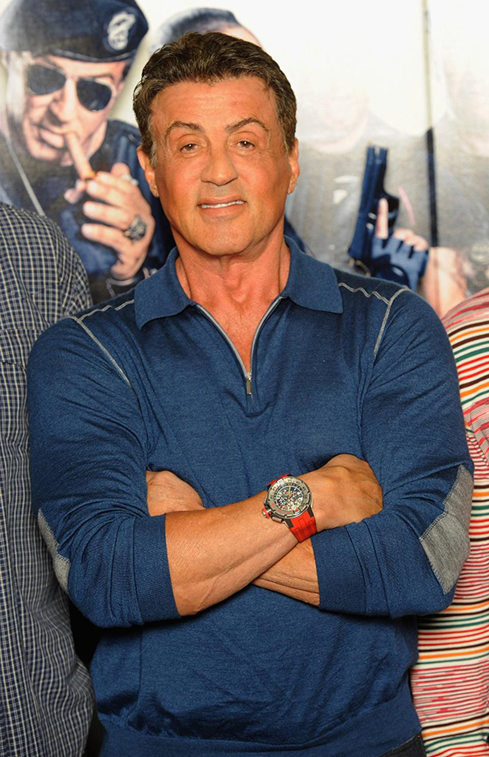 Sylvester Stallone wearing his Richard Mille RM 032 in the film Expendables III.