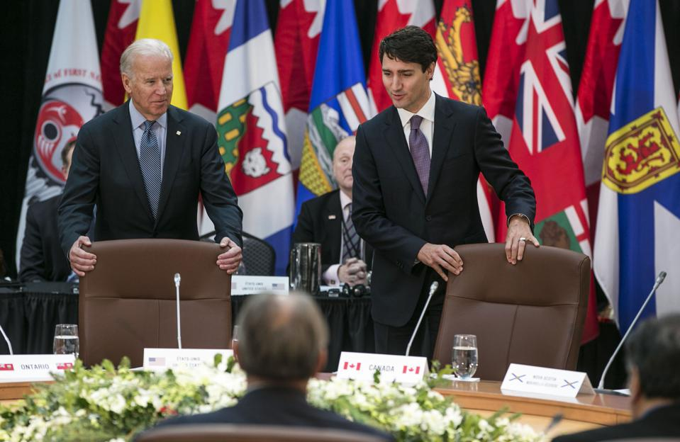 Vice President Joe Biden Meets With Canadian Prime Minister Justin Trudeau