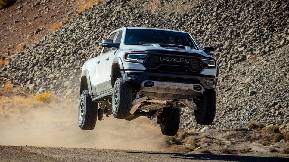 The high-flying Ram 1500 TRX was judged to be the ″meanest″ vehicle to the environment for 2020.