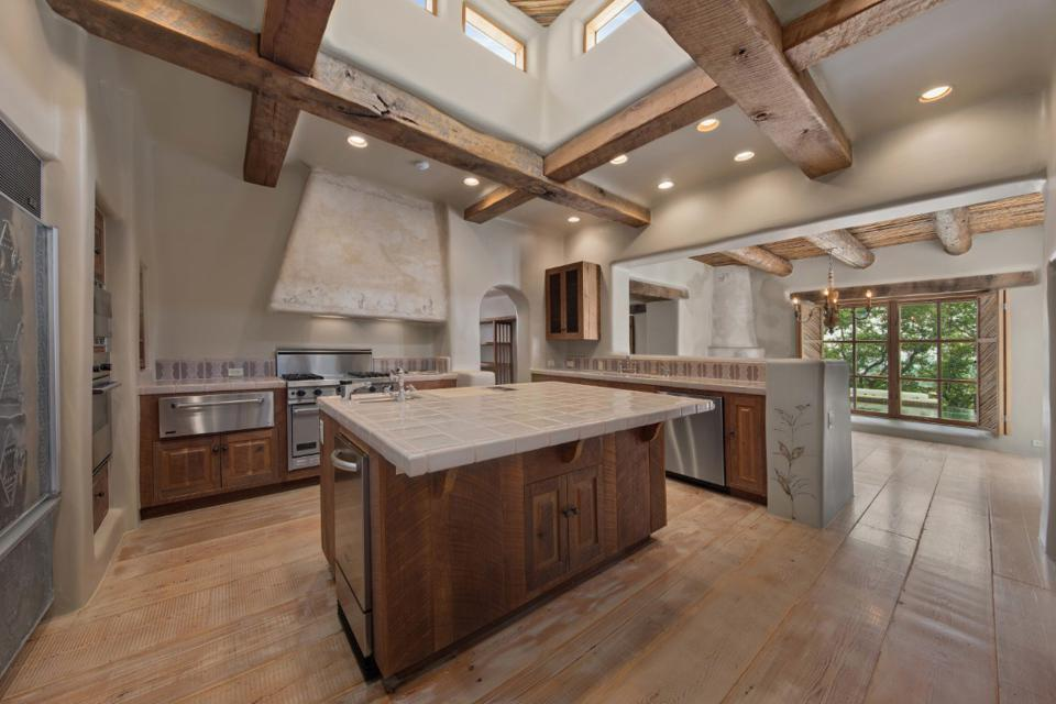 rustic kitchen with upscale appliances