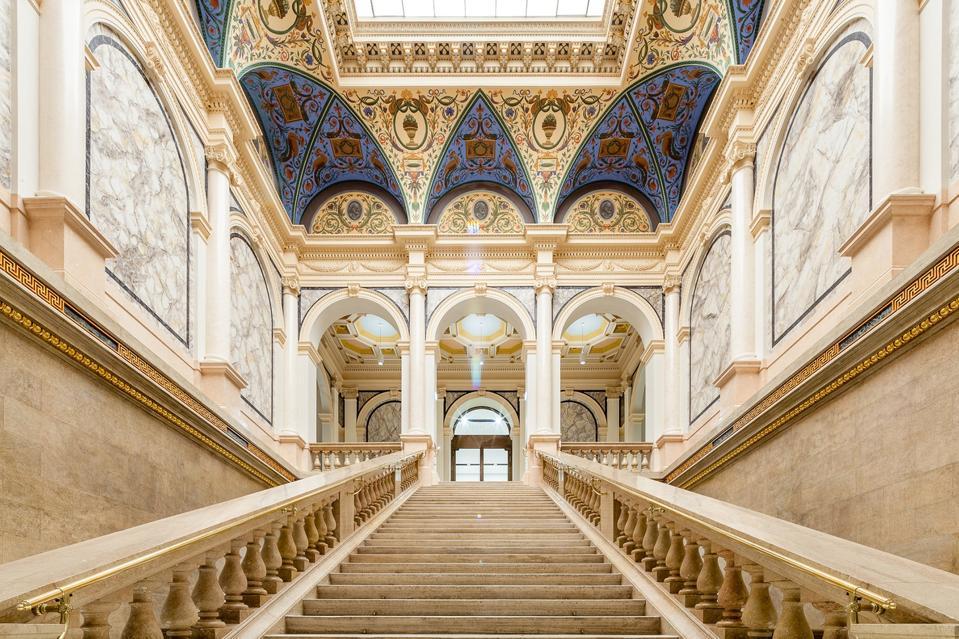 Stairway in Albertina Modern, Vienna.